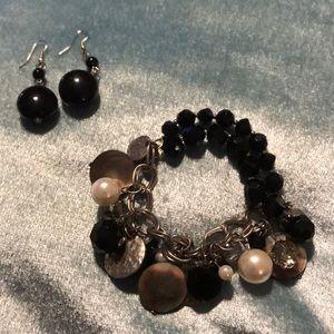 Bracelet and earrings set!